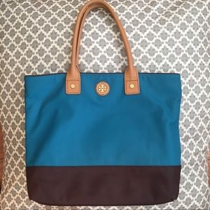 Tory Burch teal tote